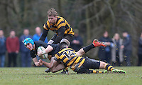 Saturday 18th February 2017 | CCB vs RBAI<br /> <br /> Ben Webb during the Ulster Schools' Cup Quarter Final clash between Campbell College Belfast and RBAI at Foxes Field, Campbell College, Belmont, Belfast, Northern Ireland.<br /> <br /> Photograph by John Dickson | www.dicksondigital.com