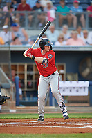 Fort Myers Miracle Ryan Jeffers (27) at bat during a Florida State League game against the Charlotte Stone Crabs on April 6, 2019 at Charlotte Sports Park in Port Charlotte, Florida.  Fort Myers defeated Charlotte 7-4.  (Mike Janes/Four Seam Images)
