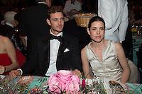 Pierre Casiraghi et Charlotte Casiraghi<br /> Bal de la Rose 2016 imagine par Karl Lagerfeld,Soiree Cuba donnee au profit de la Fondation Princesse Grace