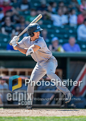 23 June 2019: Trenton Thunder infielder Mandy Alvarez in action against the New Hampshire Fisher Cats at Northeast Delta Dental Stadium in Manchester, NH. The Thunder defeated the Fisher Cats 5-2 in Eastern League play. Mandatory Credit: Ed Wolfstein Photo *** RAW (NEF) Image File Available ***