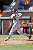 South Carolina Gamecocks third baseman Jonah Bride (20) swings at a pitch during a game against the Tennessee Volunteers at Lindsey Nelson Stadium on March 18, 2017 in Knoxville, Tennessee. The Gamecocks defeated Volunteers 6-5. (Tony Farlow/Four Seam Images)