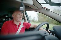 DS Steven De Neef (BEL/Wanty-Groupe Gobert) behind the wheel of the teamcar<br /> <br /> Sluitingsprijs Putte-Kapellen 2014