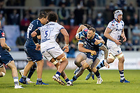 28th May 2021; AJ Bell Stadium, Salford, Lancashire, England; English Premiership Rugby, Sale Sharks versus Bristol Bears; Byron McGuigan of Sale Sharks is tackled