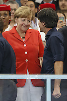 Germany manager Joachim Low and Chancellor of Germany Angela Merkel