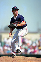 Boston Red Sox pitcher Scott Bankhead during Spring Training 1993 at McKechnie Field in Bradenton, Florida.  (MJA/Four Seam Images)