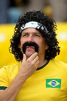 A Brazil fan with an excellent moustache