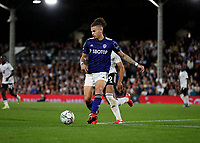 21st September 2021; Craven Cottage, Fulham, London, England; EFL Cup Football Fulham versus Leeds; Kalvin Phillips of Leeds United passing the ball into midfield