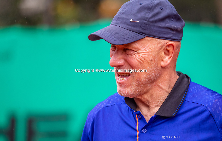 Hilversum, The Netherlands,  August 17, 2021,  Tulip Tennis Center, NKS, National Senior Tennis Championships, Men's 80+  Bert Zijlmans (NED)   Jaap van Pelt (NED)<br /> Photo: Tennisimages/Henk Koster