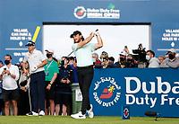 2nd July 2021; Mount Juliet Golf Club, Kilkenny, Ireland; Dubai Duty Free Irish Open Golf, Day Two; Tommy Fleetwood of England tees off on the 17th hole