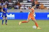 Houston, TX - Sunday Sept. 25, 2016: Carli Lloyd during a regular season National Women's Soccer League (NWSL) match between the Houston Dash and the Seattle Reign FC at BBVA Compass Stadium.