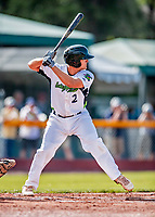 29 July 2018: Vermont Lake Monsters infielder Jonah Bride in action during a game against the Batavia Muckdogs at Centennial Field in Burlington, Vermont. The Lake Monsters defeated the Muck Dogs 4-1 in NY Penn League action. Mandatory Credit: Ed Wolfstein Photo *** RAW (NEF) Image File Available ***