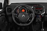 Car pictures of steering wheel view of a 2018 Citroen C1 Feel 5 Door Hatchback