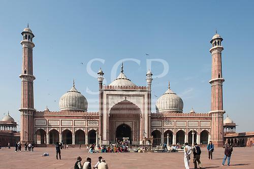 Delhi, India. Jama Masjid Friday Mosque.
