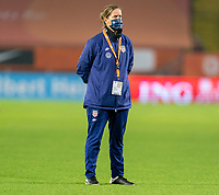 BREDA, NETHERLANDS - NOVEMBER 27: Erica Dambach of the USWNT watches the team before a game between Netherlands and USWNT at Rat Verlegh Stadion on November 27, 2020 in Breda, Netherlands.
