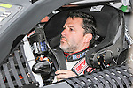 Sprint Cup Series driver Tony Stewart (14) in action during the Nascar Sprint Cup Series Duck Commander 500 race at Texas Motor Speedway in Fort Worth,Texas.