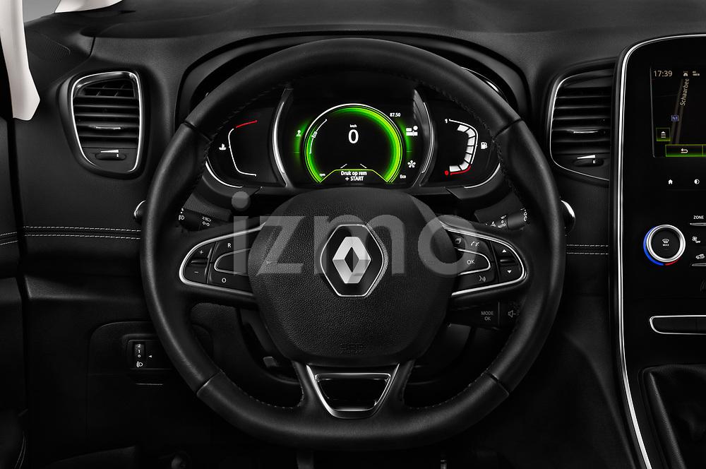 Car pictures of steering wheel view of a 2017 Renault Scenic Intens 5 Door Minivan Steering Wheel