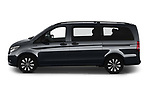 Car Driver side profile view of a 2021 Mercedes Benz Vito-Tourer - 5 Door Passenger Van Side View
