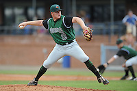 Augusta Green Jackets pitcher Shawn Sanford #12 delivers a pitch during a game against the Asheville Tourists at McCormick Field on July 10, 2011 in Asheville, North Carolina.  Augusta won the game 10-2.   (Tony Farlow/Four Seam Images)