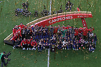 FC Barcelona's team celebrates the victory in the Spanish King's Cup Final match. April 21,2018. (ALTERPHOTOS/Acero)