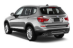 Car pictures of rear three quarter view of 2017 BMW X3 sDrive28i 5 Door SUV Angular Rear