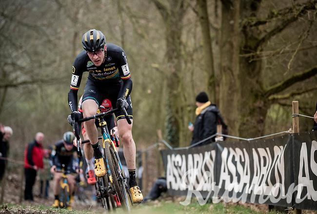 Toon Aerts (BEL/Telenet Baloise Lions)<br /> <br /> Elite + U23 Men's Race<br /> CX GP Leuven (BEL) 2020<br />  <br /> ©kramon