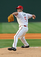 May 15, 2009: RHP Caleb Clay of the Greenville Drive, Class A affiliate of the Boston Red Sox, in a game at Fluor Field at the West End in Greenville, S.C. Photo by: Tom Priddy/Four Seam Images
