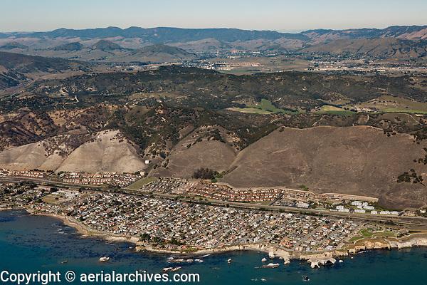 aerial photograph of Shell Beach, San Luis Obispo County, California