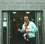 Shane Lowry outside County Louth Golf Club