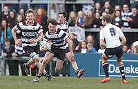 MCB vs Wallace High School | Thursday 5th March 2015<br /> <br /> Wallace on the attack during the 2015 Ulster Schools Cup Semi-Final between Methody and Wallace High School at the Kingspan Stadium, Ravenhill Park, Belfast, Northern Ireland.<br /> <br /> Picture credit: John Dickson / DICKSONDIGITAL