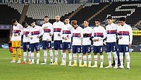 SWANSEA, WALES - NOVEMBER 12: USMNT starting eleven before a game between Wales and USMNT at Liberty Stadium on November 12, 2020 in Swansea, Wales.