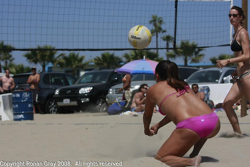 Saturday May 3, 2008 Ocean Beach, CA, USA.  West Coast Volleyball Tournament.