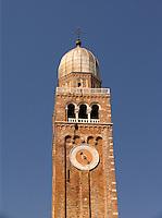 Romanesque style Clock Tower Chiesa Catterdrale Saint Maria Assunta Di Baldassarre Longhena 1623 Chioggia Ital