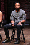 "Zelig Williams from the 'Hamilton' cast during a Q & A before The Rockefeller Foundation and The Gilder Lehrman Institute of American History sponsored High School student #EduHam matinee performance of ""Hamilton"" at the Richard Rodgers Theatre on June 6, 2018 in New York City."