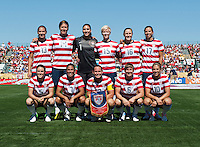 The USWNT lines up before a friendly match at Sahlen's Stadium in Rochester, NY.  The USWNT defeated Costa Rica, 8-0.