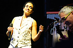 Israeli singer Noa in concert with Israeli guitarist and music producer Gil Dor. Jazz Palacio Real. July 22,2021. (ALTERPHOTOS/Acero)