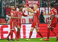 Kingsley COMAN, FCB 29  celebration 3-2 and Arturo VIDAL, FCB 23 Arjen ROBBEN, FCB 10 David ALABA, FCB 27 <br /> FC BAYERN MUENCHEN - TSG 1899 HOFFENHEIM  5-2<br /> Football 1. Bundesliga , Muenchen,27.01.2018, 20. match day,  2017/2018, <br />  *** Local Caption *** © pixathlon<br /> Contact: +49-40-22 63 02 60 , info@pixathlon.de<br /> Contact: +49-40-22 63 02 60 , info@pixathlon.de