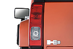 Tail light close up detail view of a 2008 Hummer H3 Alpha SUV