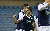 Ben Thompson of Millwall celebrates his goal during the FA Cup 2nd round match between Millwall and Wycombe Wanderers at The Den, London, England on 5 December 2015. Photo by Andy Rowland / PRiME