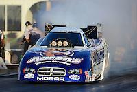 May 4, 2012; Commerce, GA, USA: NHRA funny car driver Matt Hagan during qualifying for the Southern Nationals at Atlanta Dragway. Mandatory Credit: Mark J. Rebilas-