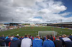 View from the Rangers end terracing at Station Park, Forfar
