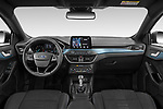Stock photo of straight dashboard view of 2019 Ford Focus Active 5 Door Hatchback Dashboard