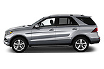 Car Driver side profile view of a 2018 Mercedes Benz GLE-Class GLE350 5 Door SUV Side View