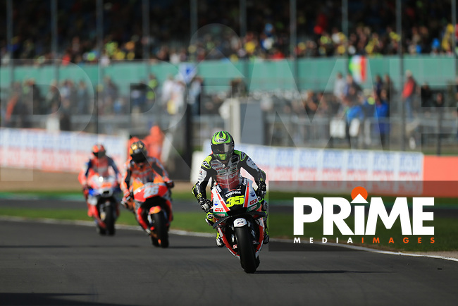 Cal Crutchlow (35) of the LCR Honda CASTROL race team during the GoPro British MotoGP at Silverstone Circuit, Towcester, England on 26 August 2018. Photo by Chris Brown / PRiME Media Images