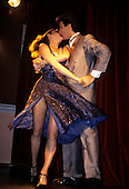 Buenos Aires, Argentina. Couple kissing while dancing the Tango.