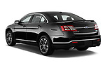 Car pictures of rear three quarter view of 2018 Ford Taurus SHO 4 Door Sedan Angular Rear