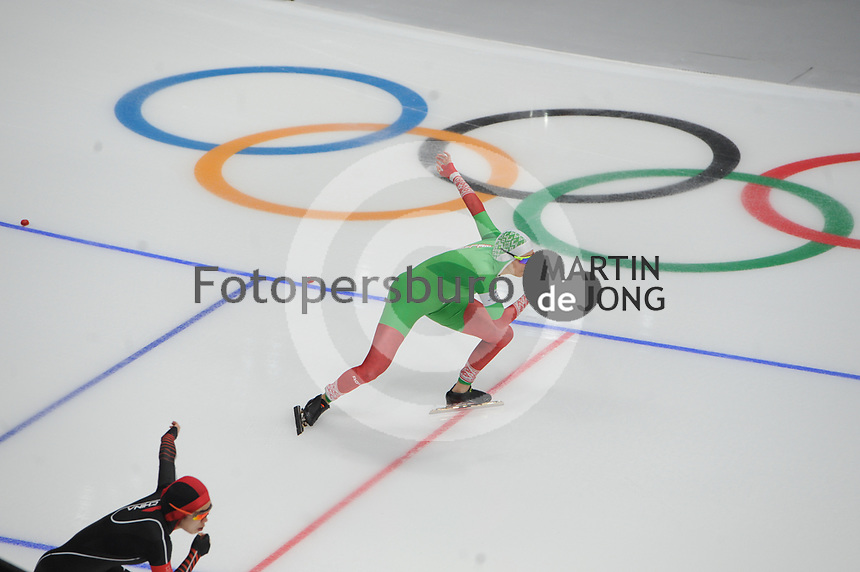 OLYMPIC GAMES: PYEONGCHANG: 18-02-2018, Gangneung Oval, Long Track, 500m Ladies, Kseniya Saouskaya (BLR), ©photo Martin de Jong