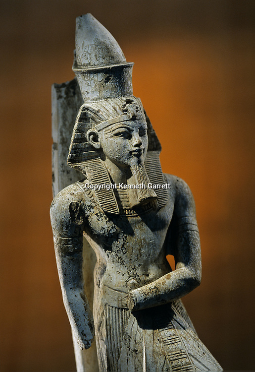 Amenhotep III; Votive Statue,Karnak; Temple of Amun,Tutankhamun and the Golden Age of the Pharaohs, Page 44