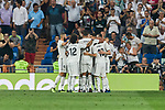 Real Madrid's players celebrate goal during La Liga match. September 01, 2018. (ALTERPHOTOS/A. Perez Meca)