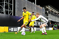 Kyle Naughton of Swansea City under pressure from Tim Ream of Fulham during the Sky Bet Championship match between Fulham and Swansea City at Craven Cottage on February 26, 2020 in London, England. (Photo by Athena Pictures/Getty Images)