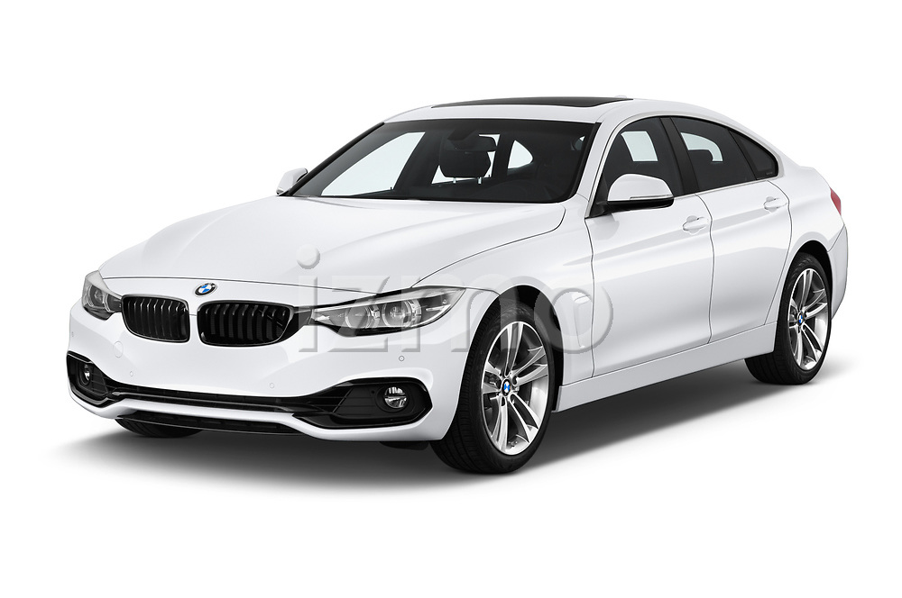 2018 BMW 4 Series Gran Coupe 2wd 430i 5 Door Hatchback angular front stock photos of front three quarter view